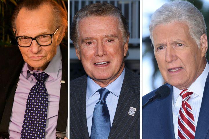 Larry King, Regis Philbin, Alex Trebek