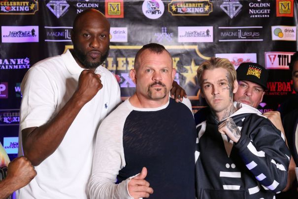 Lamar Odom And Aaron Carter Prepare For Boxing Match