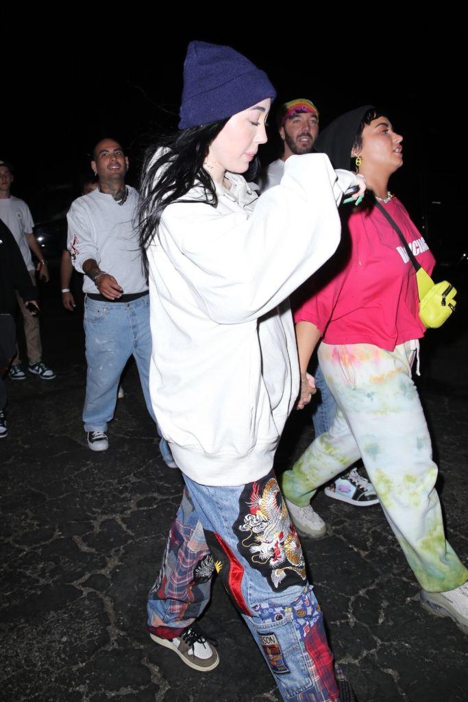 Noah Cyrus y Demi Lovato - Foto: ALEXJR / BACKGRID