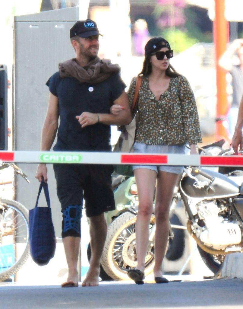 Dakota Johnson and Chris Martin on holiday in Palma De Mallorca, Spain. Photo: Backgrid
