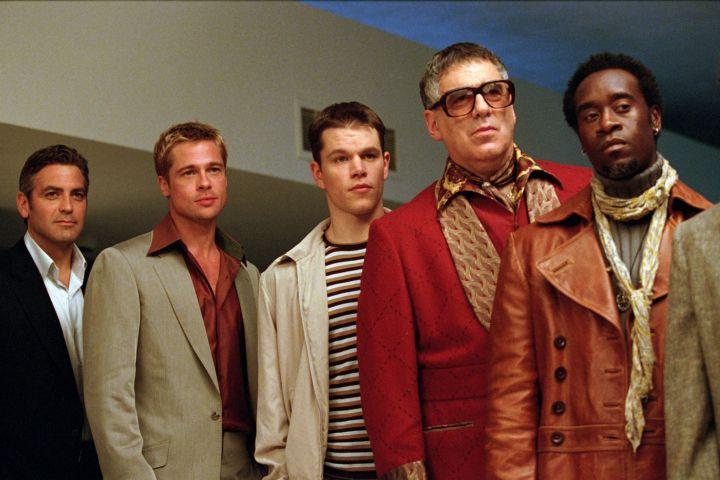 """Ocean's Eleven"": George Clooney, Brad Pitt, Matt Damon, Elliott Gould, Don Cheadle, 2001. Credit: CP Images"