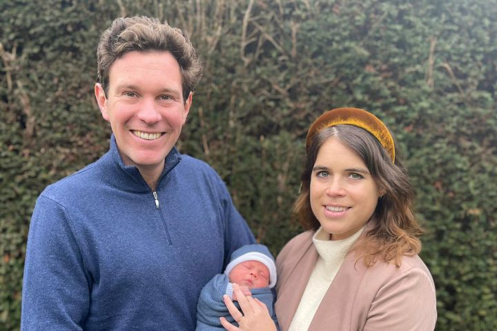 Princess Eugenie and Jack Brooksbank with baby August