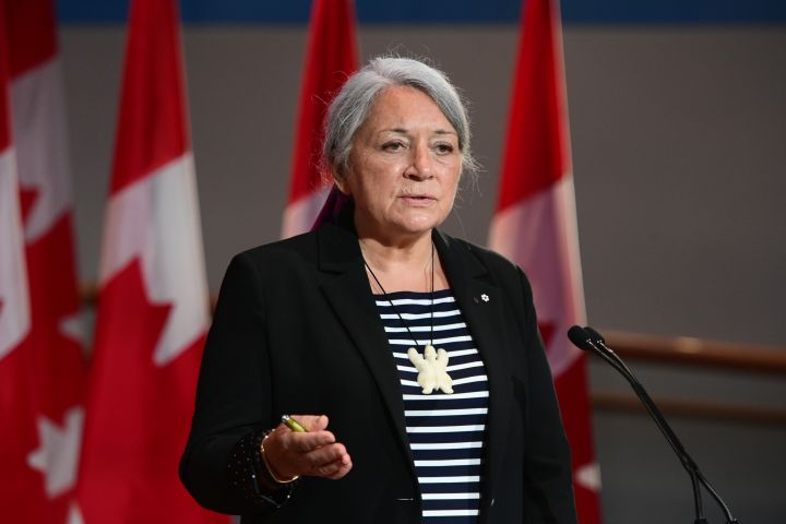 Mary Simon speaks during an announcement at the Canadian Museum of History in Gatineau, Que., on Tuesday, July 6, 2021.