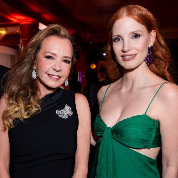 Caroline Scheufele & Jessica Chastain