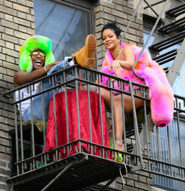 Rihanna, ASAP Rocky Make Some Music