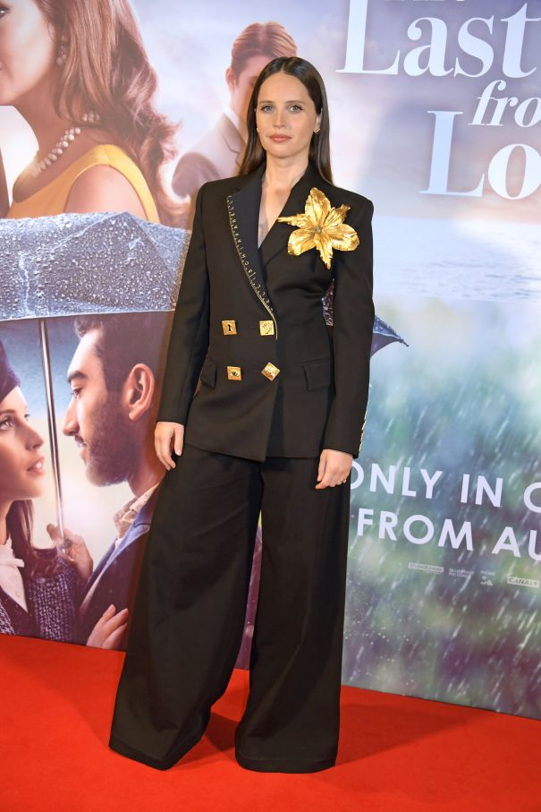 Felicity Jones Suits Up