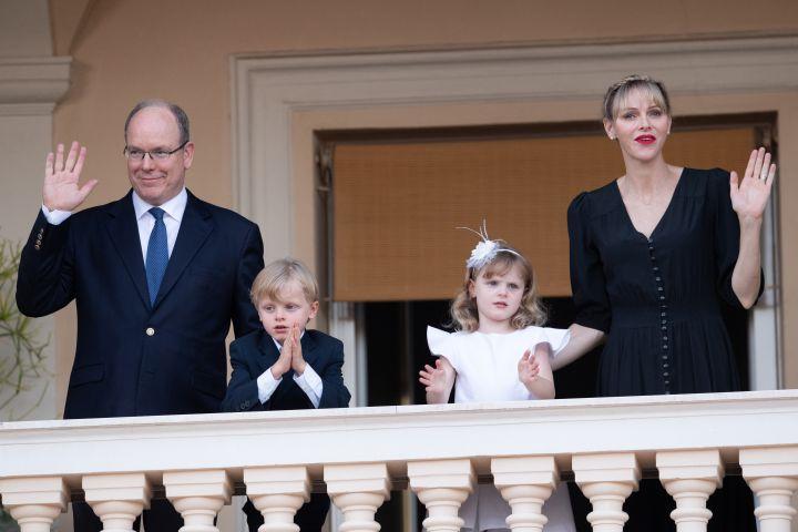 Prince Albert II of Monaco, Prince Jacques of Monaco, Princess Gabriella of Monaco and Princess Charlene of Monaco