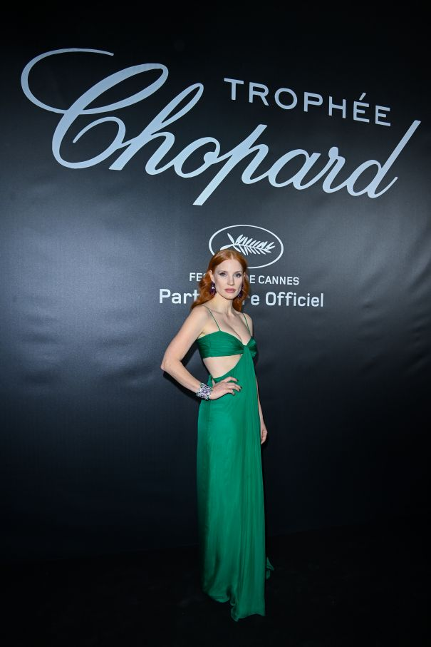 Jessica Chastain Enchants In Emerald