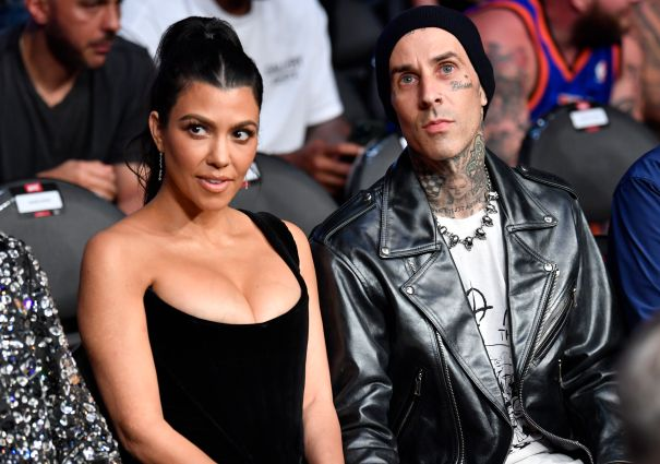 Kourtney Kardashian And Travis Barker Attend UFC 264