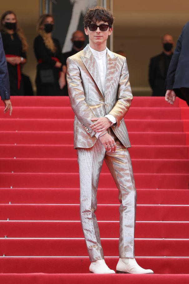 Timothée Chalamet Is A Silver Stud