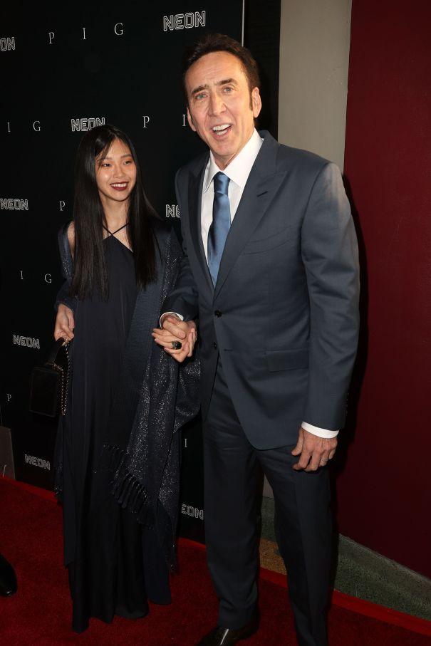 Nicolas Cage & Wife Riko Shibata 'Pig' Out