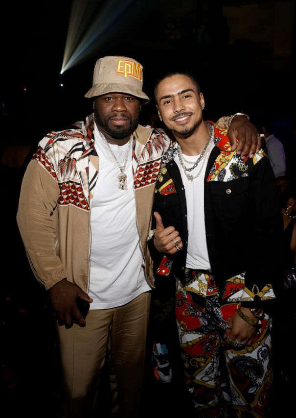 50 Cent Attends 'Power Book III: Raising Kanan' Premiere With Quincy Brown