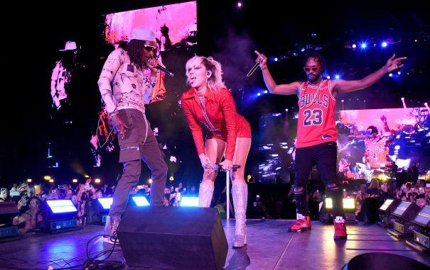 Miley Cyrus, Wiz Khalifa And Juicy J