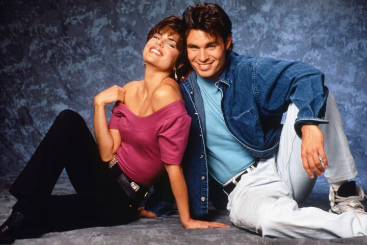 """Lisa Rinna as Billie Reed, Patrick Muldoon as Austin Reed in """"Days of Our Lives""""."""