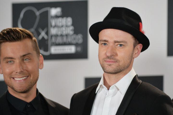 Lance Bass, Justin Timberlake at the MTV Video Music Awards August 25, 2013