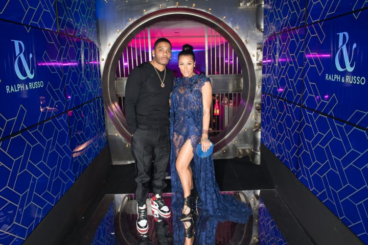 Nelly poses with Shantel Jackson at the Ralph&Russo Haute Couture After Party Spring Summer 2017.