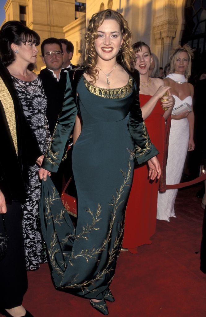 Kate Winslet at the Shrine Auditorium in 1998