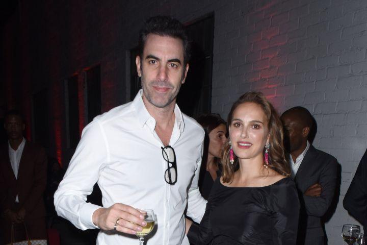 Sacha Baron Cohen and Natalie Portman