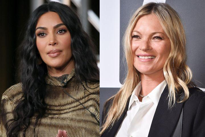 Kim Kardashian and Kate Moss