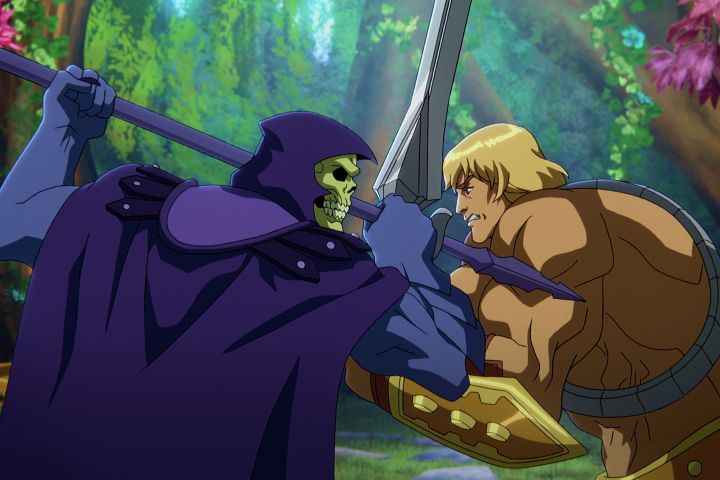 """""""MASTERS OF THE UNIVERSE: REVELATION"""" (L to R) MARK HAMILL as SKELETOR and CHRIS WOOD as HE-MAN."""