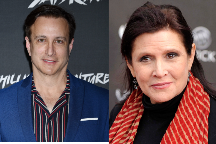 Bronson Pinchot, Carrie Fisher.