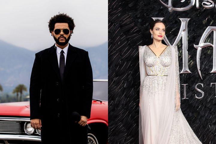 Angelina Jolie andThe Weeknd