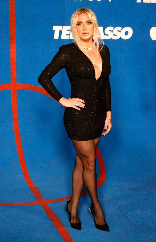 Kesha Poses At The 'Ted Lasso' Season 2 Premiere