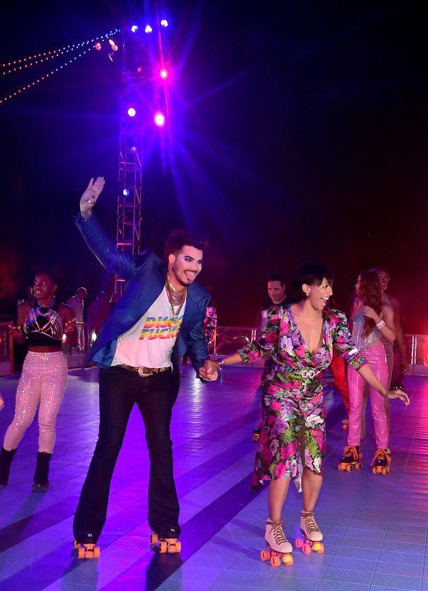 Adam Lambert And Kat Graham Go Roller-Skating