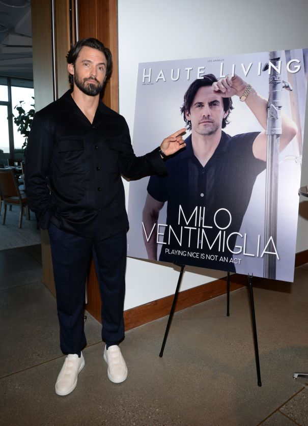 Milo Ventimiglia Poses With Himself