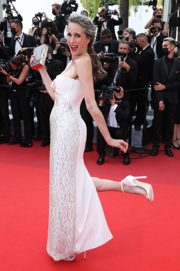 Andie MacDowell Wows In White
