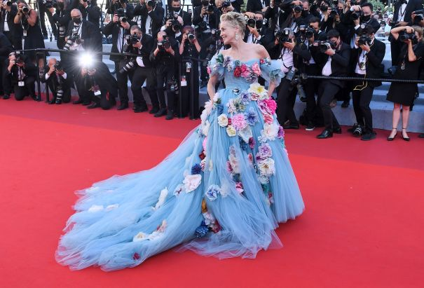 Sharon Stone Has Fun With Floral