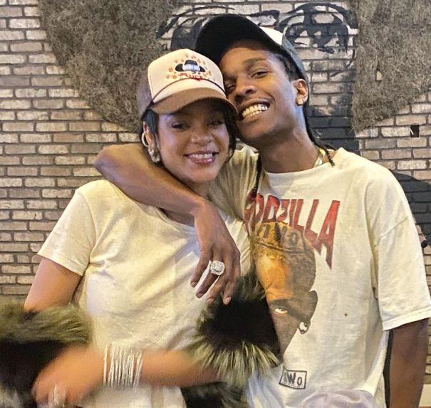Rihanna And ASAP Rocky In Miami