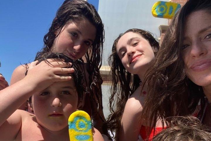 Soleil Moon Frye and her kids