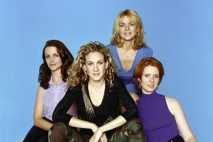 "Kristin Davis, Sarah Jessica Parker, Kim Cattrall, Cynthia Nixon in ""Sex and the City"""