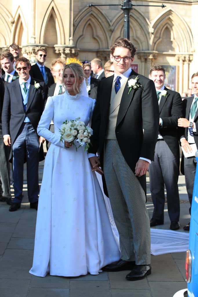 Newly married Ellie Goulding and Caspar Jopling leave York Minster after their wedding. Photo: Peter Byrne/PA Images via Getty Images