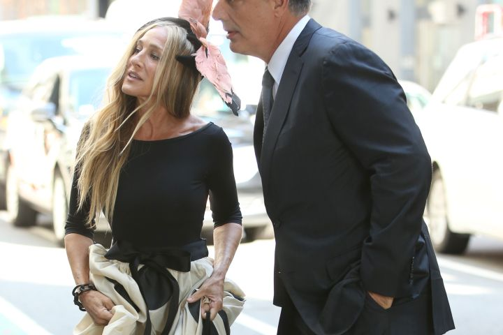 Chris Noth And Sarah Jessica Parker Film 'And Just Like That' In New York City