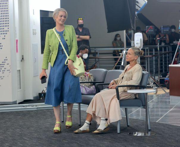 Sarah Jessica Parker, Cynthia Nixon Back On Set
