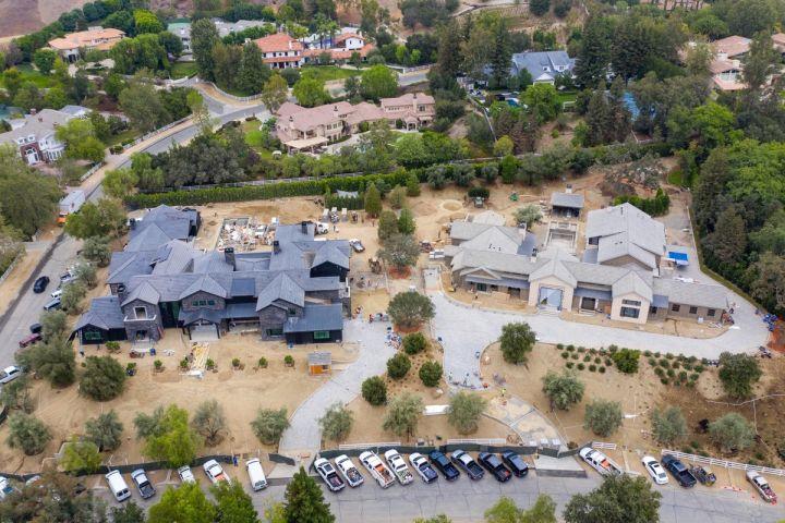 Khloe Kardashian and Kris Jenner's mansions under construction