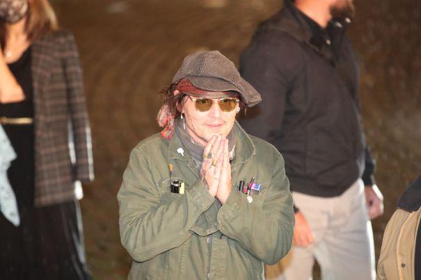 Johnny Depp Arrives At The 55th Karlovy Vary International Film Festival