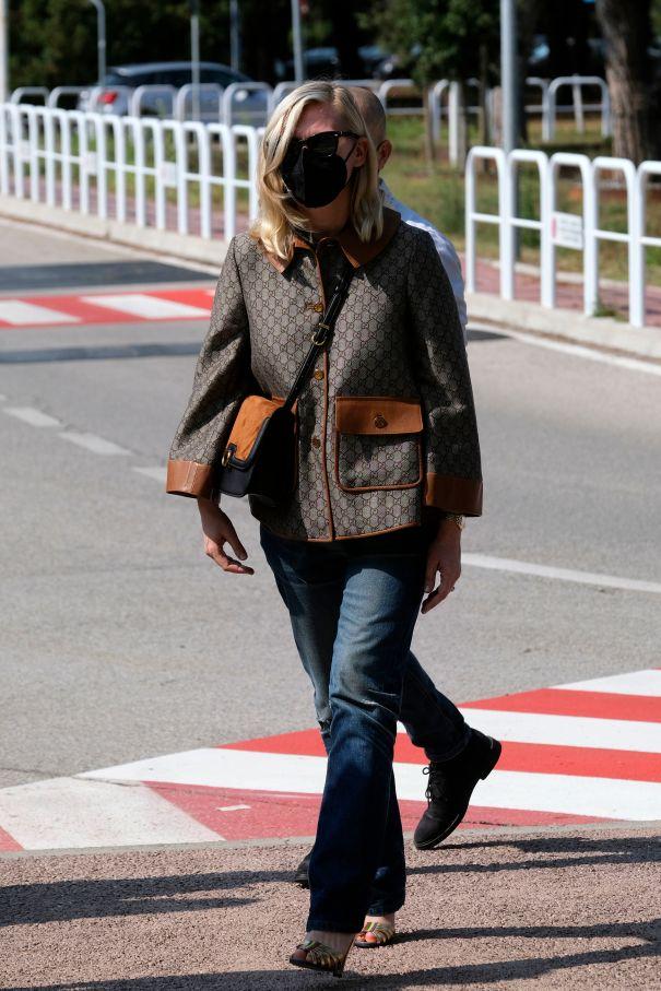 Kirsten DunstArrives In Gucci