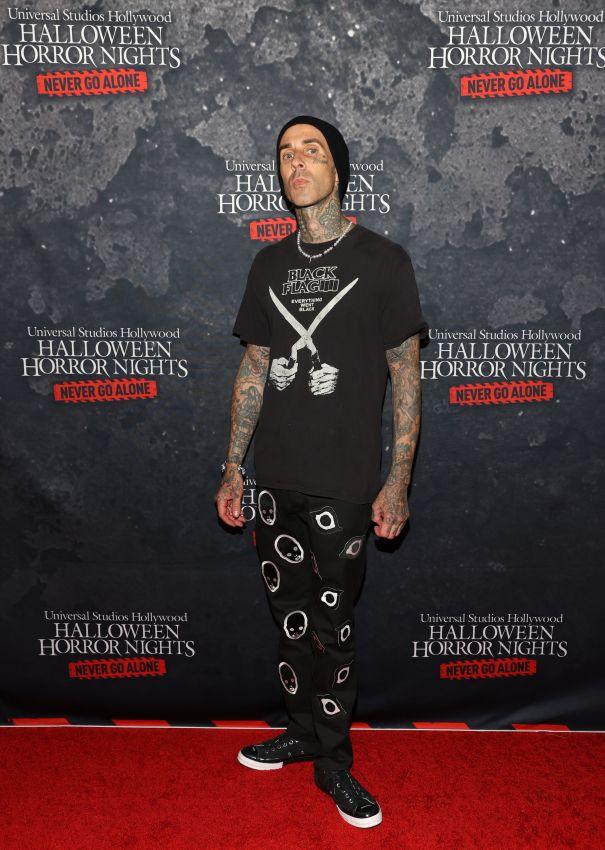 Travis Barker Gets Spooky