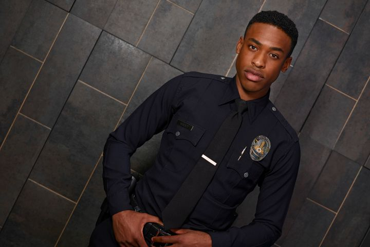 """Titus Makin Jr. as Jackson West in """"The Rookie"""""""