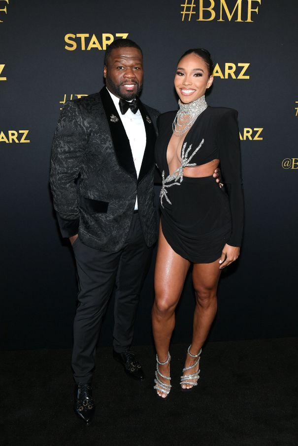 50 Cent And Jamira Haines Strike A Pose