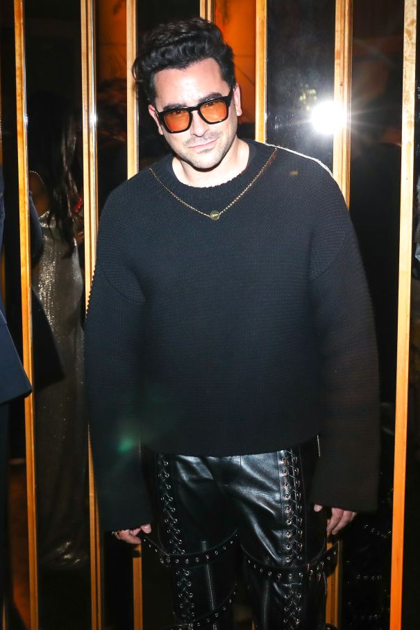 Dan Levy In Killer Leather Pants