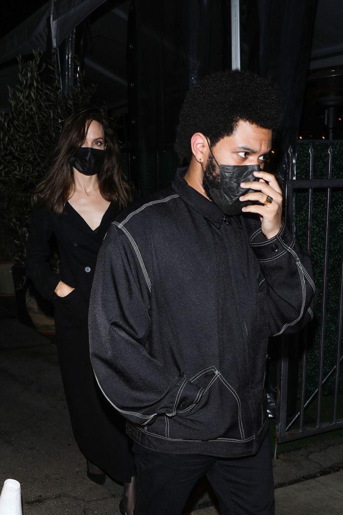 The Weeknd, Angelina Jolie. Photo: Backgrid