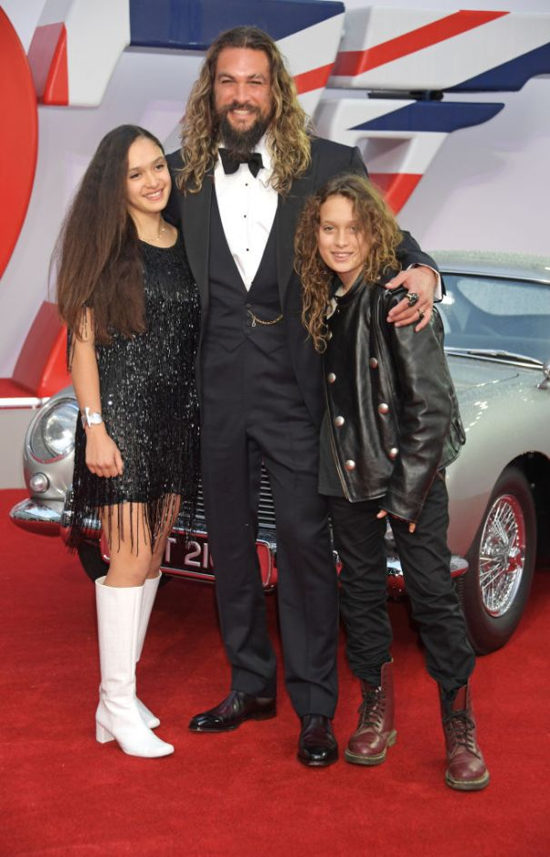 Jason Momoa Steps Out With His Kids
