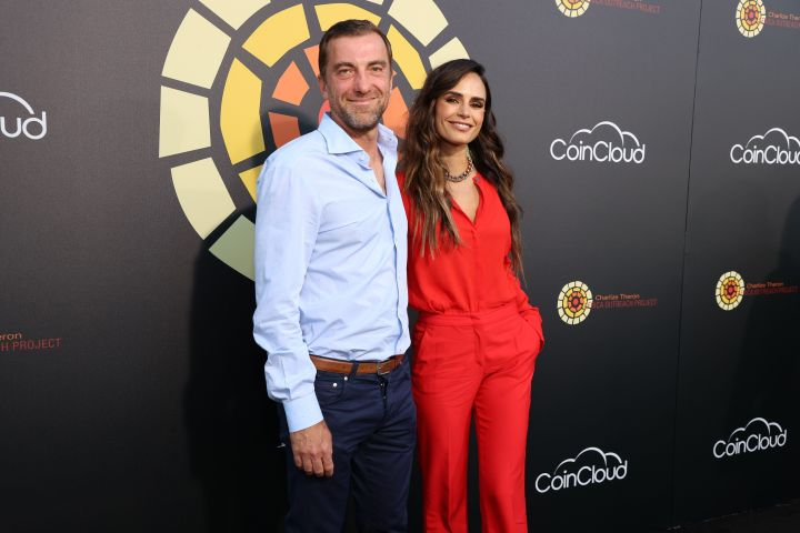 Mason Morfit and Jordana Brewster attend CTAOP's Night Out on June 26, 2021