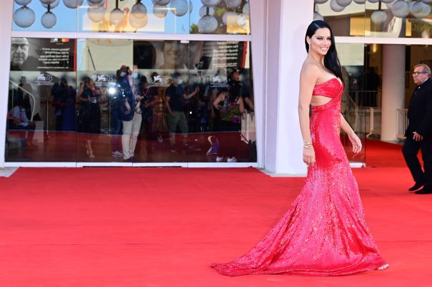 Adriana Lima Red Hot In Venice