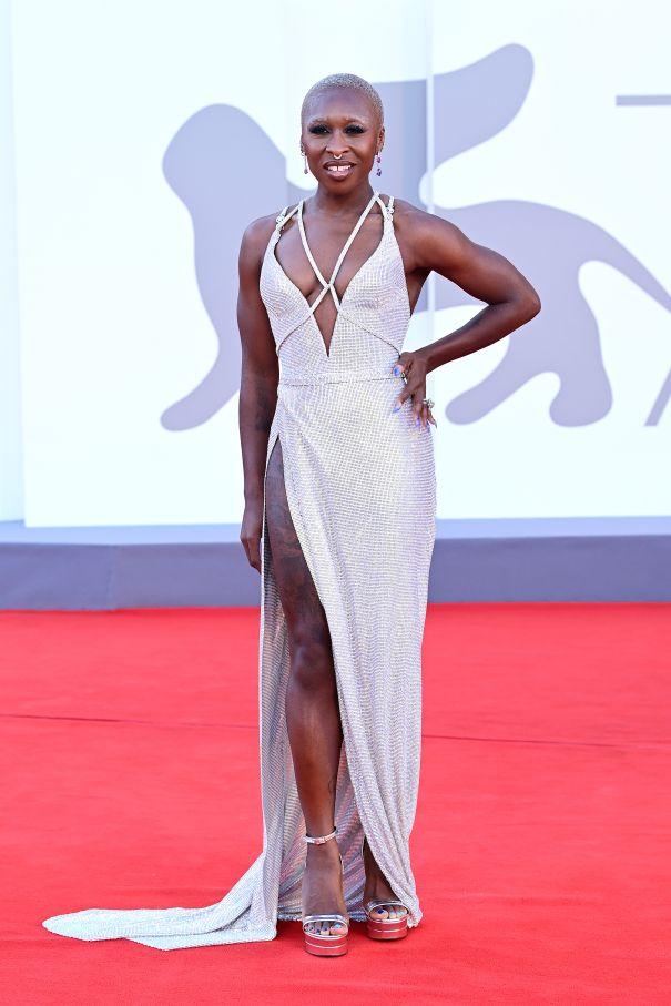 Cynthia Erivo Stunning In Silver