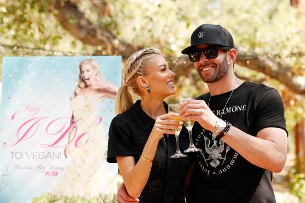 PETA Hosts Bridal Shower For Heather Rae Young